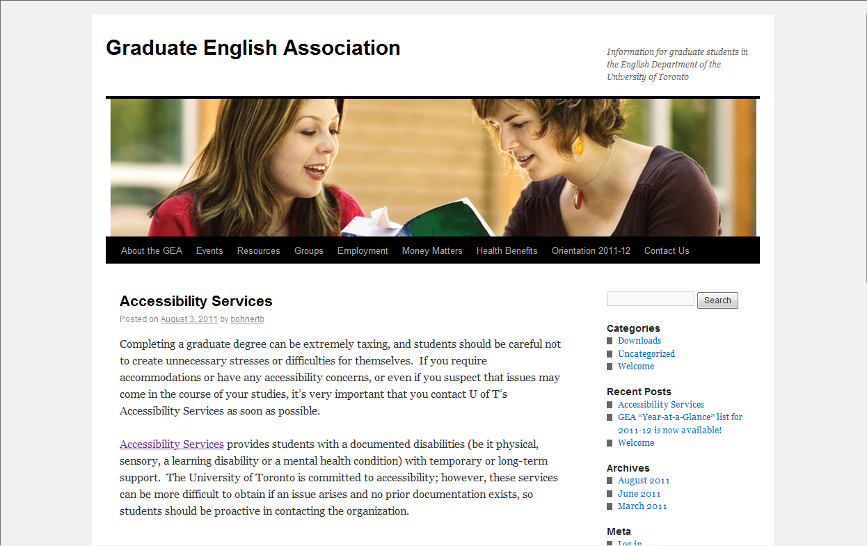 Graduate English Association Website