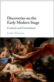 Book cover of Discovery on the Early Modern Stage L. Thomson